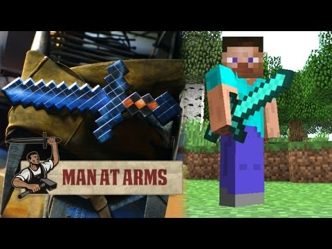 Forging the Diamond Sword (Minecraft)