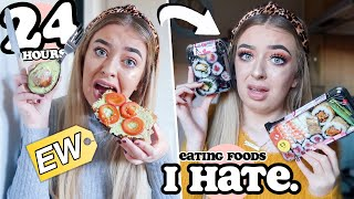 I ONLY ate foods I HATE for 24 HOURS! *DISGUSTING!*