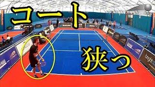 タッチテニスコートもラケットも小さい!コンパクトだが立派なテニスが面白そうマイナースポーツ