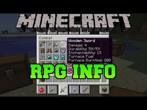 Minecraft Mod Showcase - RPG Information (Item Information Mod)