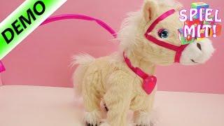 AniMagic Pony Tessie kann laufen, wiehern und hat pinke Lichteffekte | Pferdespielzeug | Deutsch