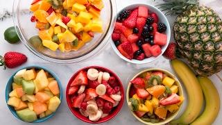 Hora de la merienda Aquí varias alternativas para preparar una ensalada de