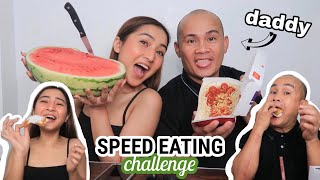 SPEED EATING Challenge with Daddy 😂 | Ry Velasco