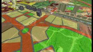 preview picture of video 'מודל אדריכלי (חברת פרשקובסקי) משולב במודל העירוני'