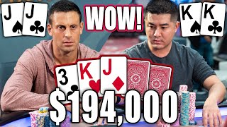 Set Over Set with $194,000 on the Line, then Set Over Set Again the Next Hand!!! ♠ Live at the Bike!