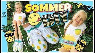 diy sommer fashion pineapple look tshirt amp schuhe coole mã¤dchen