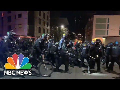 Seattle Police Make Arrests After Demonstration Leads To Damage | NBC News NOW