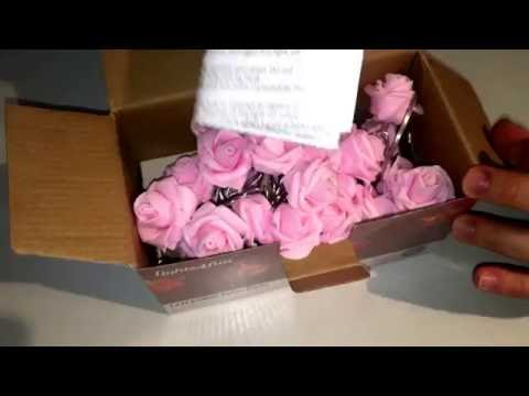 LED Innen Lichterkette Fairy light Pink lights4fun unboxing und Anleitung