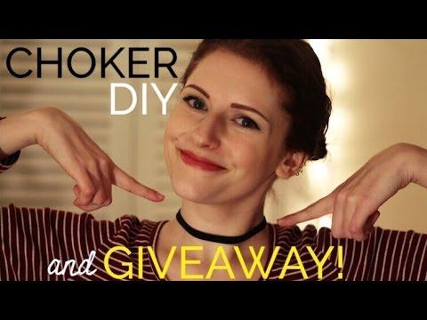 DIY choker tutorial + GIVEAWAY! [closed]