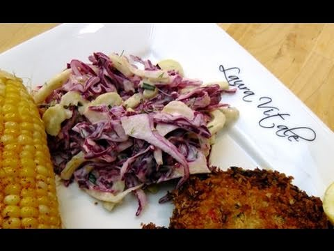 How to Make Homemade Cole Slaw – Recipe by Laura Vitale – Laura In The Kitchen Episode 60