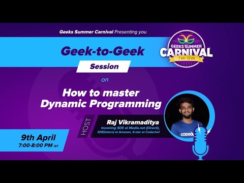 How to master Dynamic Programming - YouTube