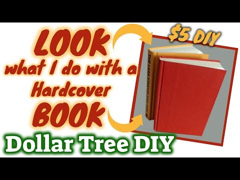 LOOK what I do with this Hardcover BOOK   $5 DOLLAR TREE DIY