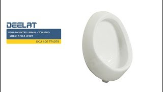 Wall-Mounted Urinal – Top Spud - Size 31 x 40 x 49 cm     SKU #D1774079