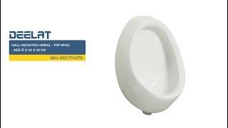 Wall-Mounted Urinal – Top Spud - Size 31 x 40 x 49 cm     SKU #D1774079
