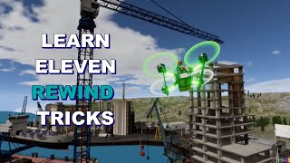 FPV Tricks - 11 Rewind tricks with stick overlay ( Simulator )