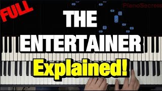 HOW TO PLAY - THE ENTERTAINER - BY SCOTT JOPLIN (PIANO TUTORIAL LESSON) (COMPLETE)