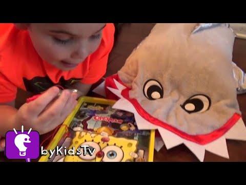 World's Biggest SHARKNADO! Surprise Toy Hunt + Tornado Scare Video Game Apps HobbyKidsTV