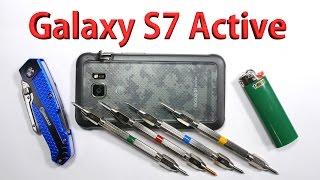 Samsung Galaxy S7 Active Scratch test, Bend test, Burn test - Durability video