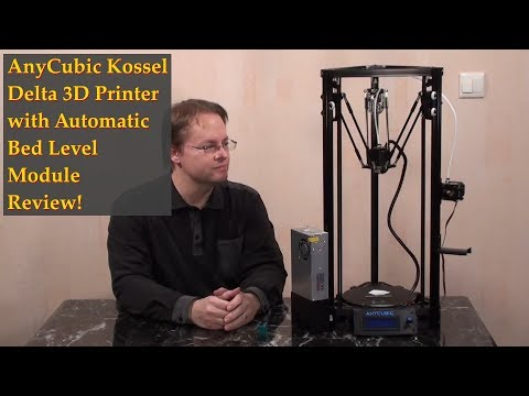Anycubic Kossel Delta 3D Printer Full Assembly and Review - ruevs