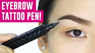 EYEBROW TATTOO PEN! OMG Does it work?  || TINA TRIES IT