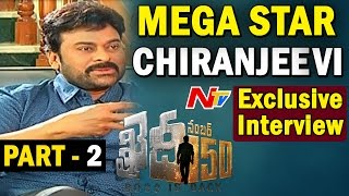 Megastar Chiranjeevi Exclusive Interview  Khaidi No 150  BossIsBack  Part 02