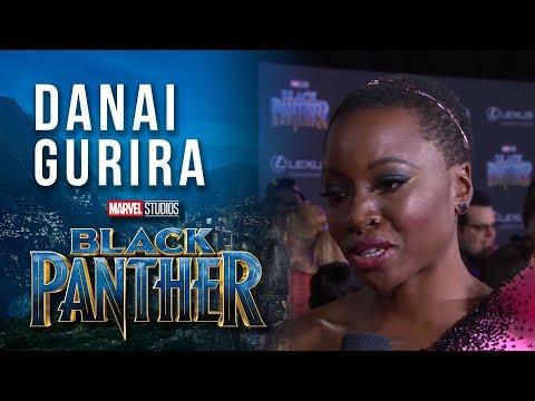 Danai Gurira at Marvel Studios' Black Panther World Premiere Red Carpet
