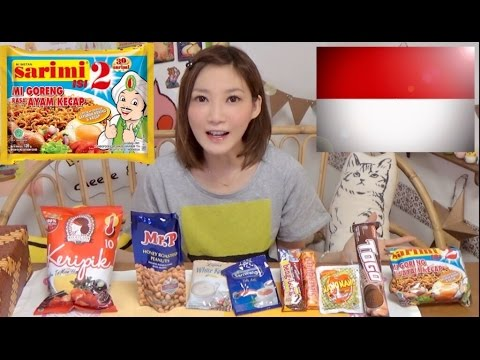 【MUKBANG】 [Indonesia] Extreme Spicy Snacks!! 9 Types Including Instant Mi Goreng..etc [CC Available]