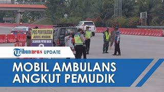 Nekat! Ambulans Angkut 7 Orang Pemudik Diberhentikan Polisi, Ini Alasan Para Penumpangnya ke Petugas