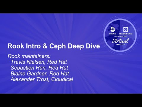 Image thumbnail for talk Rook: Intro and Ceph Deep Dive