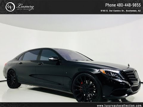 #SS5242 | 2016 Mercedes-Benz S-Class Maybach S 600 Forgiato Wheels | For Sale Scottsdale, AZ