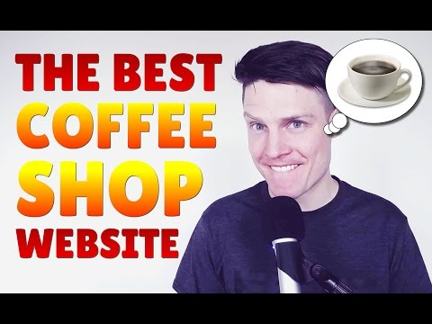 The best coffee shop website I've ever seen!