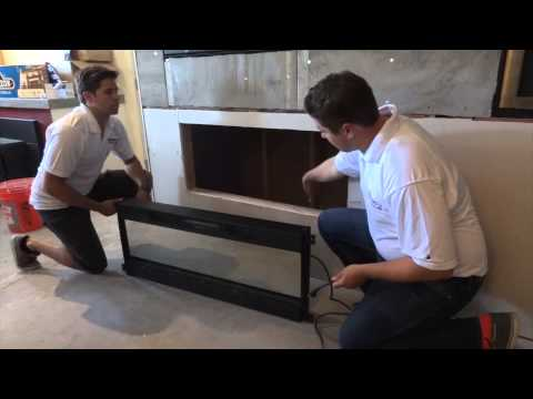 How to Install a Napoleon NEFL50FH Modern Electric Fireplace Linear Into a wall mount