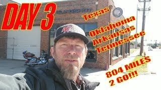 DAY 3: XC MOTOVLOG: Texas to Tennessee