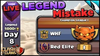 *Big Mistake in Legends League* WHF CWL Champion I Match-up | Clash of Clans
