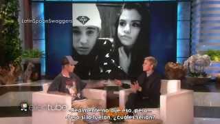 Justin Bieber en Ellen hablando de Selena Gomez [subtitulado] [LSS]