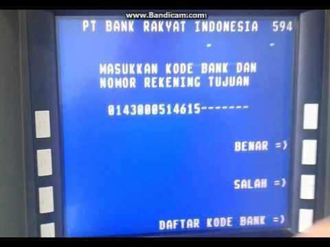 Cara Transfer via ATM Bri ke Bank lain