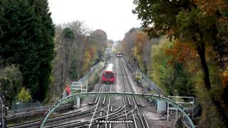 preview picture of video 'Central Line Rail Adhesion Train (leaves on the line, etc)'