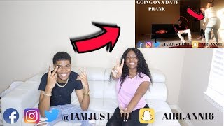 GOING ON A DATE WITH SOMEONE ELSE PRANK ON TRAY REACTION FT TRAY BILLS