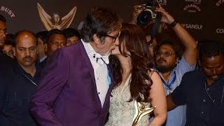Aishwarya Rai & Amitabh Bachchan At Colors Stardust Awards 2015