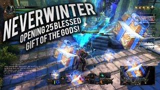 Neverwinter: Opening 25 Blessed Gift Of The Gods (Mod 9)