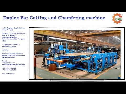Duplex Bar Cutting and Chamfering Machine