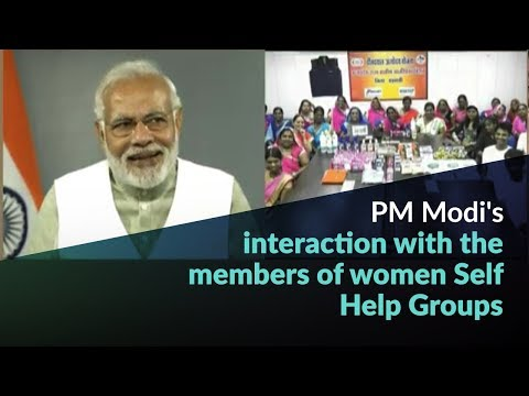 PM Modi's interaction with the members of women Self Help Groups
