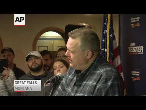 Montana Sen. Jon Tester won re-election in a hotly contested race where President Donald Trump took a personal interest in the race and made four trips to the state to campaign for his opponent, Matt Rosendale. (Nov. 7)