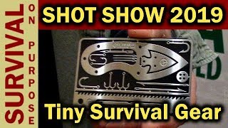 Tiny Survival Guide And Card -   SHOT Show 2019