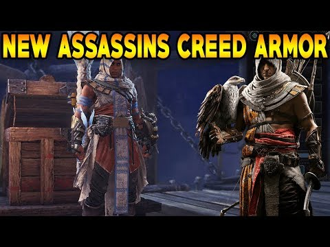 Monster Hunter World: NEW ASSASSINS CREED ARMOR! BAYEK LAYERED ARMOR