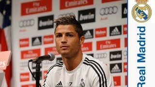 Cristiano Ronaldo (Криштиану Роналду), Пресс-конференция Криштиану