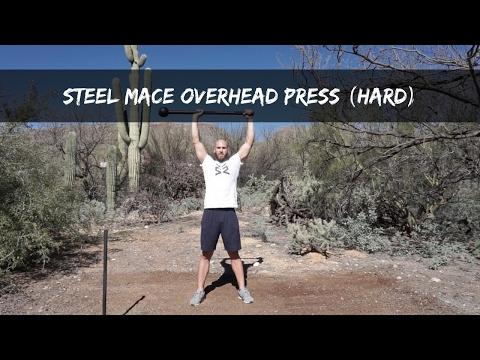 Steel Mace Offset Overhead Press
