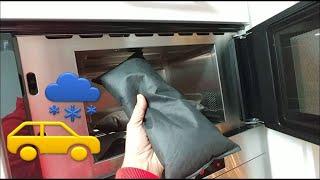 Eisfreie Auto Scheiben mit Luftentfeuchter wiederverwenden in der Mikrowelle. Kein Kratzen, Trocken