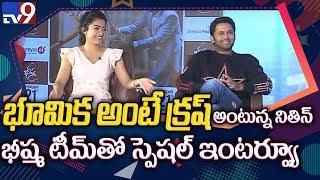 Nithin and Rashmika Valentine's Day Special Interview || Bheeshma - TV9