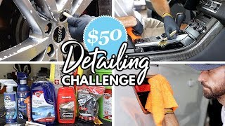 Complete Interior Exterior Car Detail For Only $50 Store Bought Products! Car Detailing Challenge